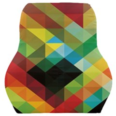 Pattern Colorful Geometry Abstract Wallpaper Car Seat Back Cushion
