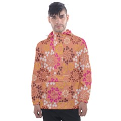 Abstract Seamless Pattern Graphic Pattern Men s Front Pocket Pullover Windbreaker by Vaneshart