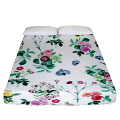 Leaves Green Aop Fitted Sheet (california King Size) by Vaneshart