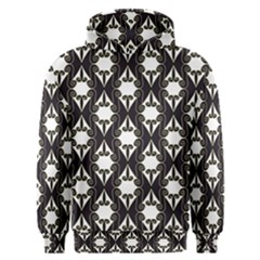 Abstract Seamless Pattern Graphic Black Men s Overhead Hoodie