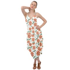 Vector Flower Floral Layered Bottom Dress by Vaneshart