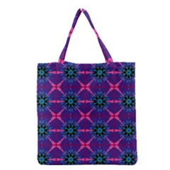 Seamless Wallpaper Art Grocery Tote Bag by Vaneshart