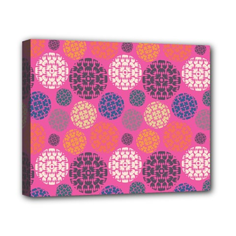 Abstract Seamless Pattern Graphic Pink Canvas 10  X 8  (stretched)