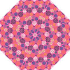 Abstract Seamless Pattern Graphic Pink Hook Handle Umbrellas (medium)