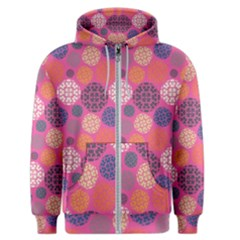 Abstract Seamless Pattern Graphic Pink Men s Zipper Hoodie