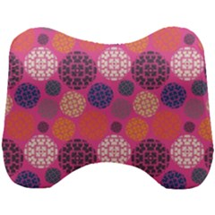 Abstract Seamless Pattern Graphic Pink Head Support Cushion