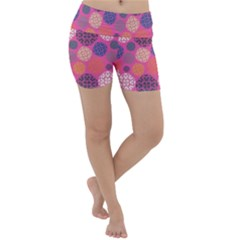 Abstract Seamless Pattern Graphic Pink Lightweight Velour Yoga Shorts
