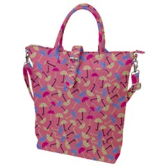 Umbrella Pattern Buckle Top Tote Bag