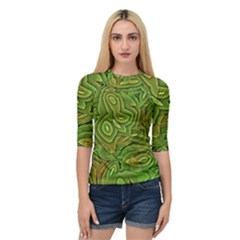Background Abstract Green Quarter Sleeve Raglan Tee