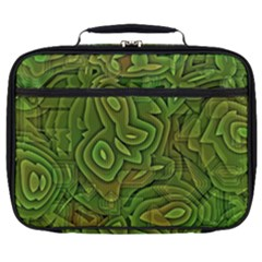Background Abstract Green Full Print Lunch Bag