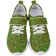 Background Abstract Green Women s Velcro Strap Shoes by Vaneshart