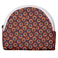 Abstract Seamless Pattern Graphic  Horseshoe Style Canvas Pouch
