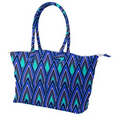 Teardrops In Blue Canvas Shoulder Bag
