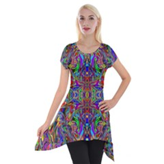 Abstract 39 Short Sleeve Side Drop Tunic by ArtworkByPatrick