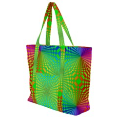 Pattern Colorful Abstract Zip Up Canvas Bag