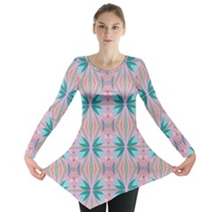 Seamless Wallpaper Pattern Free Picture Long Sleeve Tunic