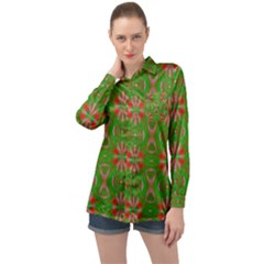Seamless Wallpaper Digital Long Sleeve Satin Shirt