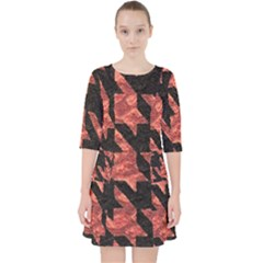 Fabric Pattern Dogstooth Pocket Dress