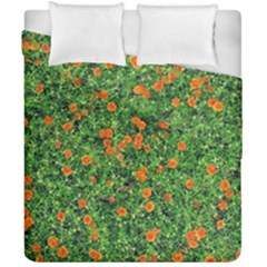 Carnations Flowers Seamless Duvet Cover Double Side (california King Size)
