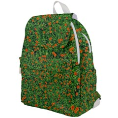 Carnations Flowers Seamless Top Flap Backpack