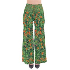 Carnations Flowers Seamless So Vintage Palazzo Pants