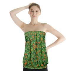 Carnations Flowers Seamless Strapless Top