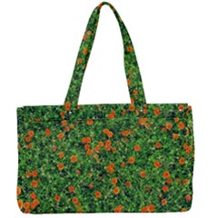 Carnations Flowers Seamless Canvas Work Bag