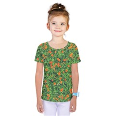 Carnations Flowers Seamless Kids  One Piece Tee