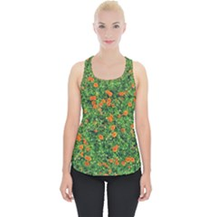 Carnations Flowers Seamless Piece Up Tank Top