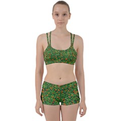 Carnations Flowers Seamless Perfect Fit Gym Set