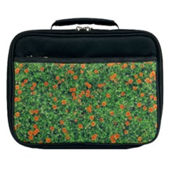 Carnations Flowers Seamless Lunch Bag