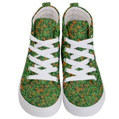 Carnations Flowers Seamless Kids  Hi Top Skate Sneakers