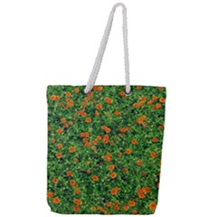 Carnations Flowers Seamless Full Print Rope Handle Tote (large)