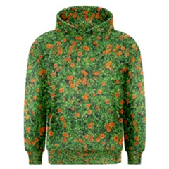 Carnations Flowers Seamless Men s Overhead Hoodie