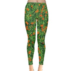 Carnations Flowers Seamless Inside Out Leggings