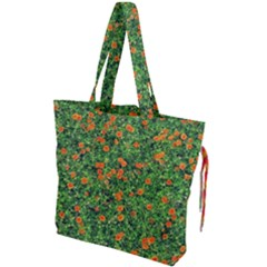 Carnations Flowers Seamless Drawstring Tote Bag