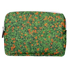 Carnations Flowers Seamless Make Up Pouch (medium)