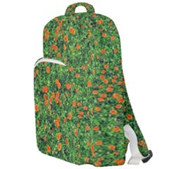 Carnations Flowers Seamless Double Compartment Backpack