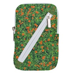 Carnations Flowers Seamless Belt Pouch Bag (large)