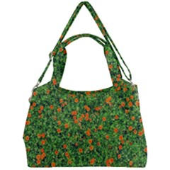 Carnations Flowers Seamless Double Compartment Shoulder Bag