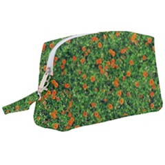 Carnations Flowers Seamless Wristlet Pouch Bag (large)