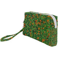 Carnations Flowers Seamless Wristlet Pouch Bag (small)