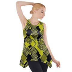Seamless Pattern Background Side Drop Tank Tunic