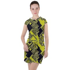 Seamless Pattern Background Drawstring Hooded Dress