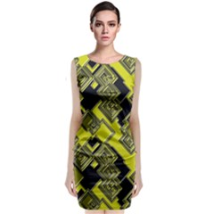 Seamless Pattern Background Classic Sleeveless Midi Dress