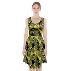 Seamless Pattern Background Racerback Midi Dress