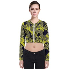 Seamless Pattern Background Long Sleeve Zip Up Bomber Jacket