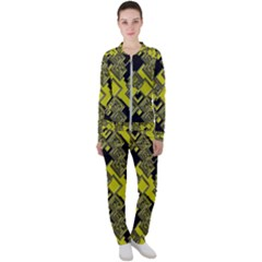 Seamless Pattern Background Casual Jacket And Pants Set