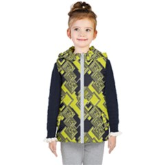 Seamless Pattern Background Kids  Hooded Puffer Vest