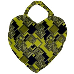 Seamless Pattern Background Giant Heart Shaped Tote